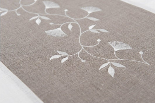 Chemin de table 100 lin blanc chemin de table lin gris - Maison du monde chemin de table ...