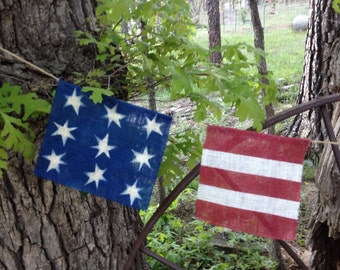 Fourth of July Banner-Patriotic Banner-Bunting-Americana Banner-Burlap Banner-red-White-Blue-