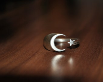 Moon and Star, Turkish style Ring.