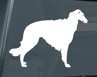 Borzoi Die Cut Vinyl Sticker Russian Wolfhound - 394