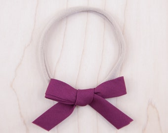 Petite Hand-Tied Bow - Very Berry