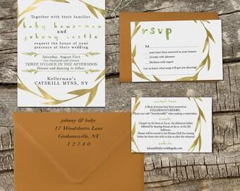 Printable Johnny and Baby Wedding Invitation Suite, DIY