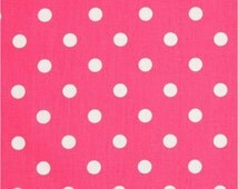 1/2 Yard Hot Pink and White Polka Dot Fabric - Premier Prints Candy Pink and White Polka Dot Fabric HALF YARD dark pink hot pink fuchsia