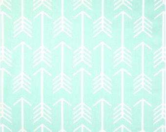1/2 Yard Mint Arrow Fabric - Premier Prints Mint Green and White Arrow Fabric HALF YARD