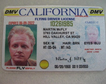 Back to the Future - [ Marty McFly Old Driver License ] BTTF