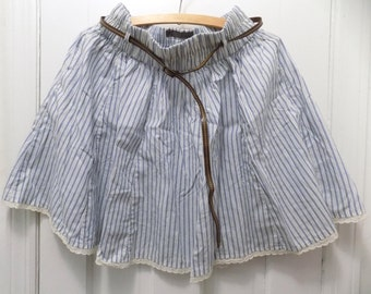 Women's Blue and White Striped Skirt Size M