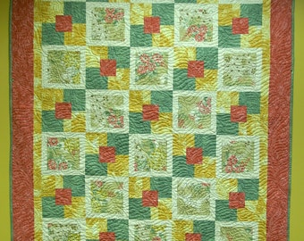 Gentle Breezes quilted throw