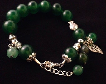 Green Emerald Beaded Bracelet