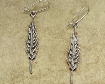 Wheat Jewelry, 925 Sterling Silver Wheat Head Earrrings