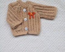 Two hand knitted cardigans for Waldorf doll,Waldorf Doll Clothes, Waldorf Doll Cardigan, Waldorf Doll sweaters and a matching hat