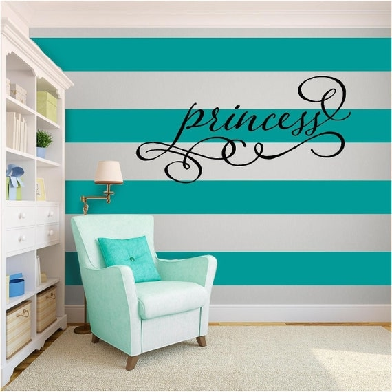 Black Princess Wall Decor : Princess girls vinyl wall art quote home decor decal by