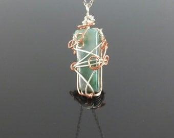 Silver and Copper Ocean Jasper Necklace
