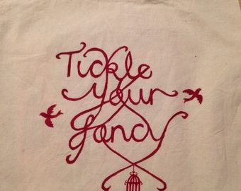 Tickle Your Fancy x bird designed totes bag