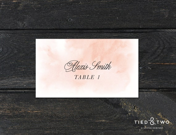 Watercolor place cards watercolor escort cards custom place for Personalized wedding place cards