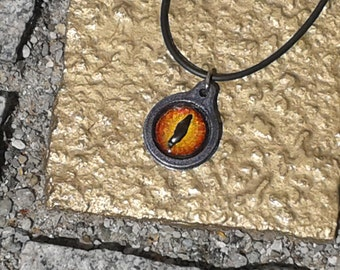 Dragon's eye necklace hand painted