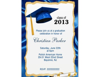 Digital File -Personalized Graduation Invitation Cards