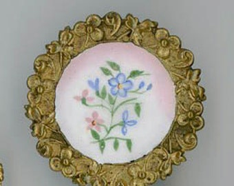 A Lovely Forget me not  Enamel Button
