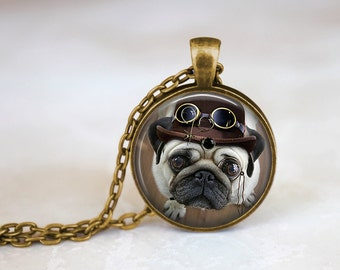 Steampug IV - Steampunk Handmade Pendant Necklace