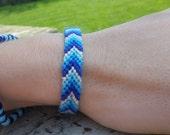 Custom chevron friendship bracelet- Pick your colors. Braided bracelet, macrame bracelet