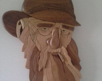 Australian Timber Intarsia Swaggie