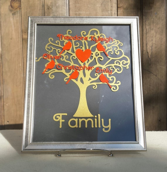 Wallverbs Family Tree Personalized Picture Frame Set: Personalized Family Tree Picture Frame, Family Name