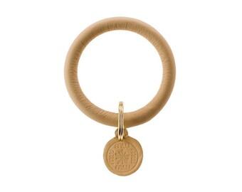 Signature Key Ring--Camel
