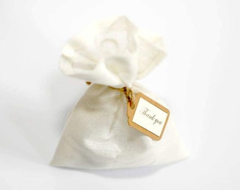 10 Fabric Wedding Favour/Party Bags