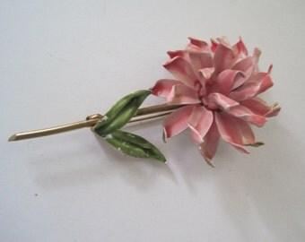 Beautiful enameled flower brooch