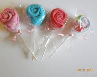 New beanie cap hat polka dot birds baby shower pink gift favor lollipop girls teal