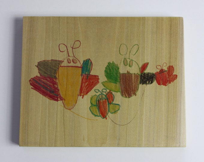 Your Child's Artwork on Wood! - 8x10 Inch Wood Panel