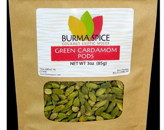 Green Cardamom Pods, 3oz.
