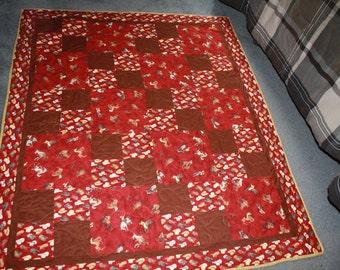 Cowboy lap quilt or jr bed