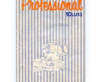 Vintage SINGER Professional Serger Machine 10uJ13 Instruction Manual