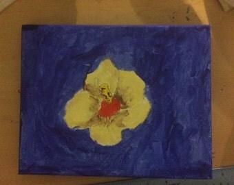 Hibiscus painting 10x8
