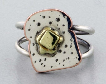 Buttered Toast Ring - Size 7