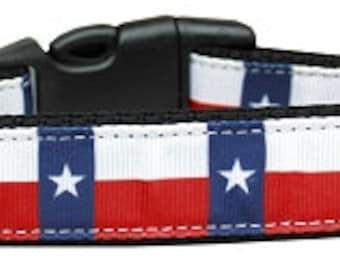 Nylon Dog Collars and Leash.Texas Flag Nylon Dog Collar&Leash.