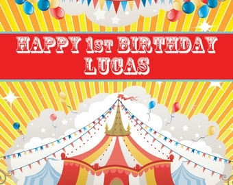 Personalized Circus Carnival Big Top Banner