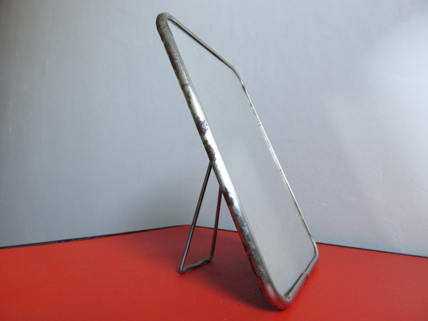 Ancien miroir de barbier art deco ann es 50 60 vintage barber for Miroir annees 50