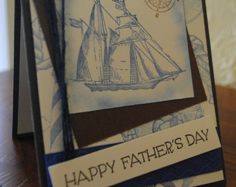 handmade 'Father's day' card, Nautical cards, Masculine cards