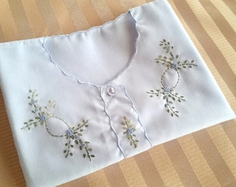 Beautiful Heirloom hand embroidered baby blouses diaper shirt!