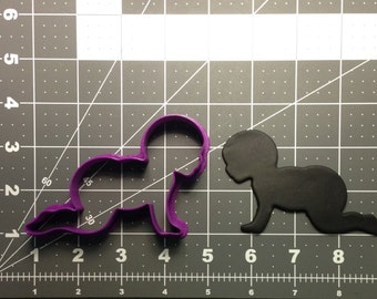 Crawling Baby 101 Cookie Cutter