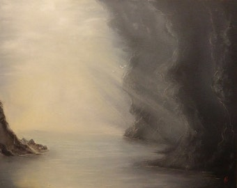 Sea Cave - Oil on Canvas Original Painting