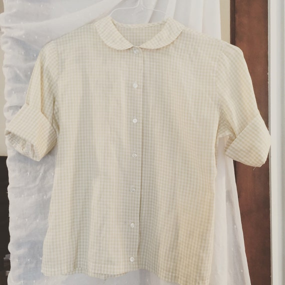 Yellow And White Blouse 112