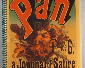 "Vintage ""Pan"" Poster Replica Sketchbook - Journal - Notebook"
