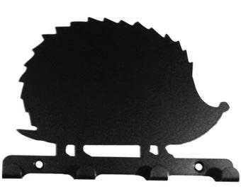 Spiky Hedgehog Silhouette Key Hook Rack - metal wall art
