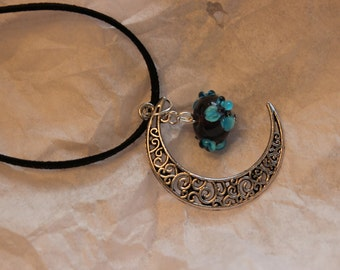 moon and bead necklace