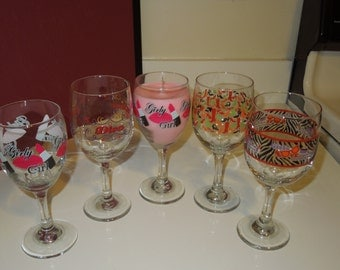 Girl Wine Glass Candle