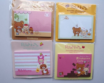 Cute Adorable Rilakkuma Bear Sticky Notes / Memo Pad