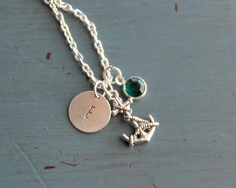 Nautical Hand Stamped Necklace