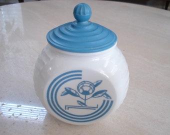 Vitrock Grease Jar Hocking Glass Company